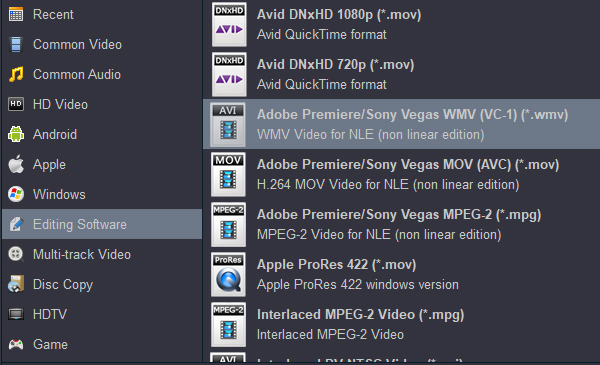 Import 4K H.265/HEVC from Samsung NX500 into Sony Vegas Pro 15