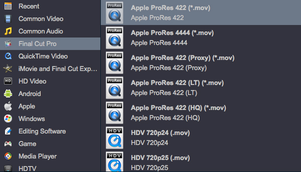 Convert Canon EOS R5 H.265 files to FCP X ProRes MOV on Mac