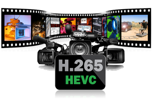 Convert MXF to H.265 video