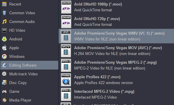 Convert XF305 MXF to Premiere Pro supported format