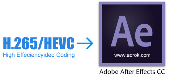 Convert Samsung NX500 H.265 to After Effects CC native format