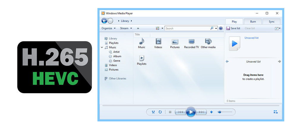 play H.265/HEVC MP4 in Windows Media Player 12